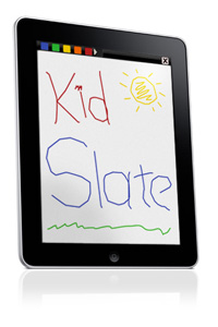 Screenshot of KidSlate on iPad